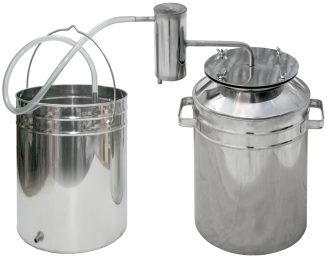 Bigger camping metallic steam-dome distiller фото 1263