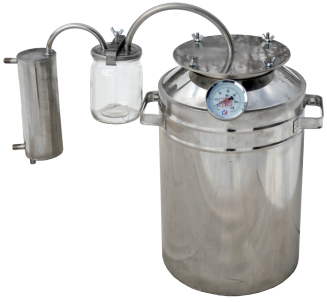 Bigger household steam-dome jar distiller with thermometer фото 1270