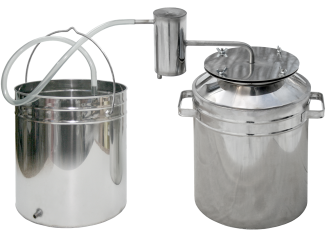 Smaller camping metallic steam-dome distiller фото 1267