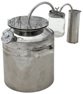Smaller household steam-dome jar distiller with thermometer фото 1274