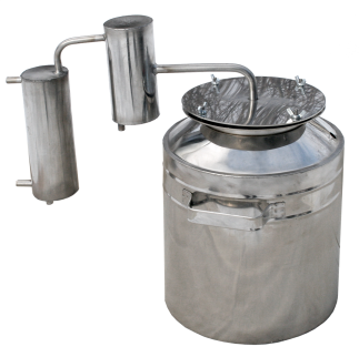 Small household metallic steam-dome distiller фото 1265